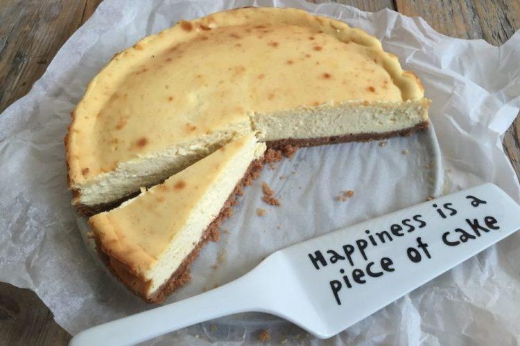 White chocolate cheesecake met speculaasbodem