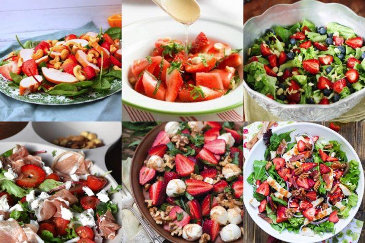 6x zomerse salades met aardbeien