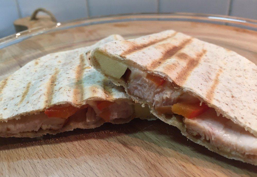 Quesadillas met gerookte kip: snel, voedzaam en lekker