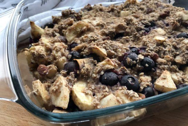 Baked oats recept