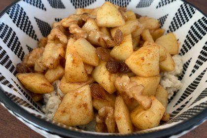 havermout met gebakken appeltjes recept