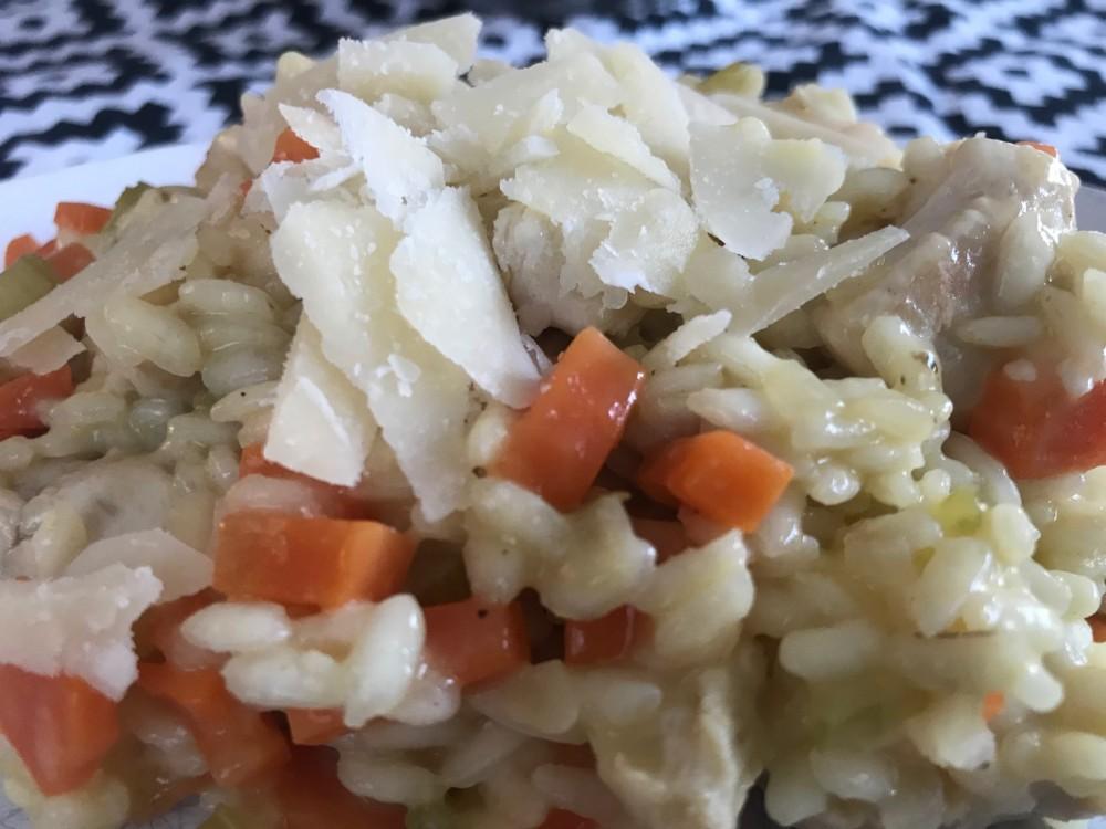 Risotto met groenten en rijst