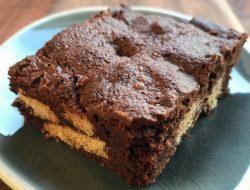 brownies met stukjes koek