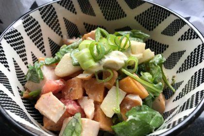 zoete aardappel salade