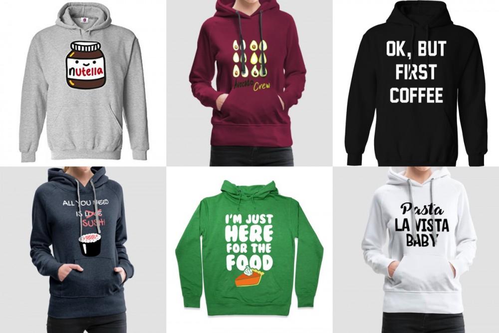 6x hoodies for foodies