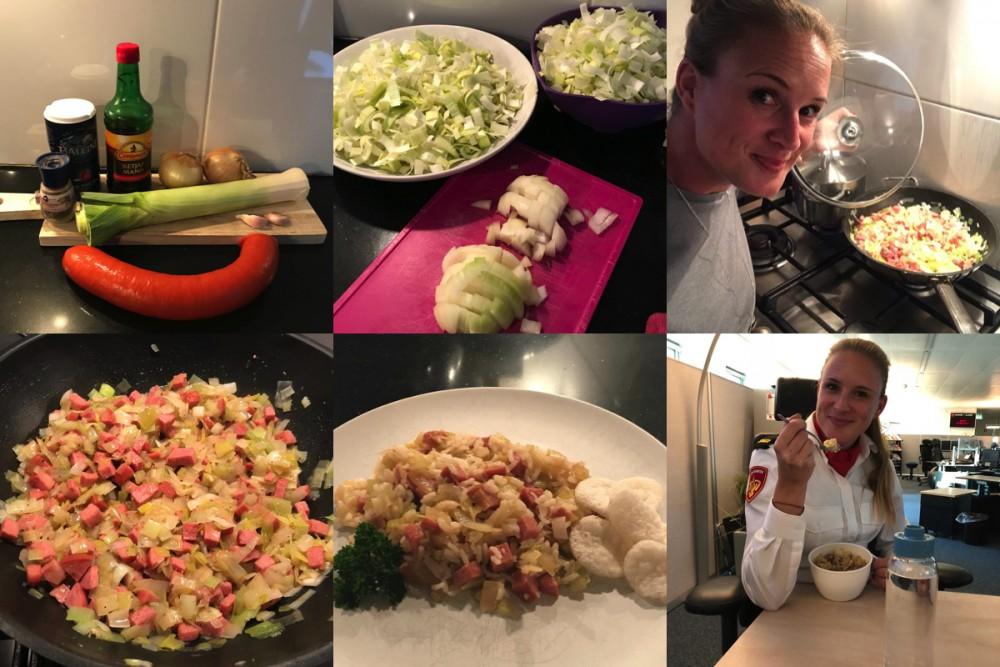 Koken met Ellen: rijst met worst