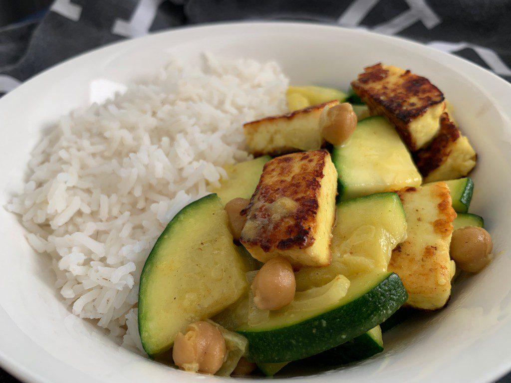 vegetarische curry met paneer en courgette recept