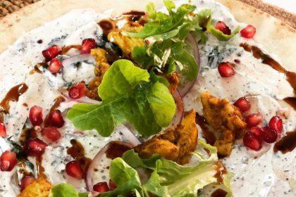 Libanese wraps met ras el hanout kip recept