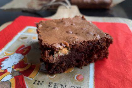 sinterklaas brownies met kruidnoten en witte chocolade