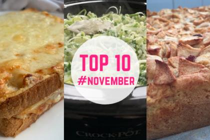 Top 10 recepten november foto