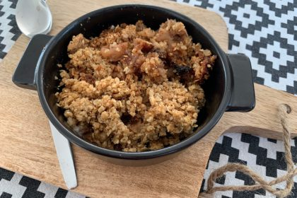 apple crumble uit de slowcooker foto