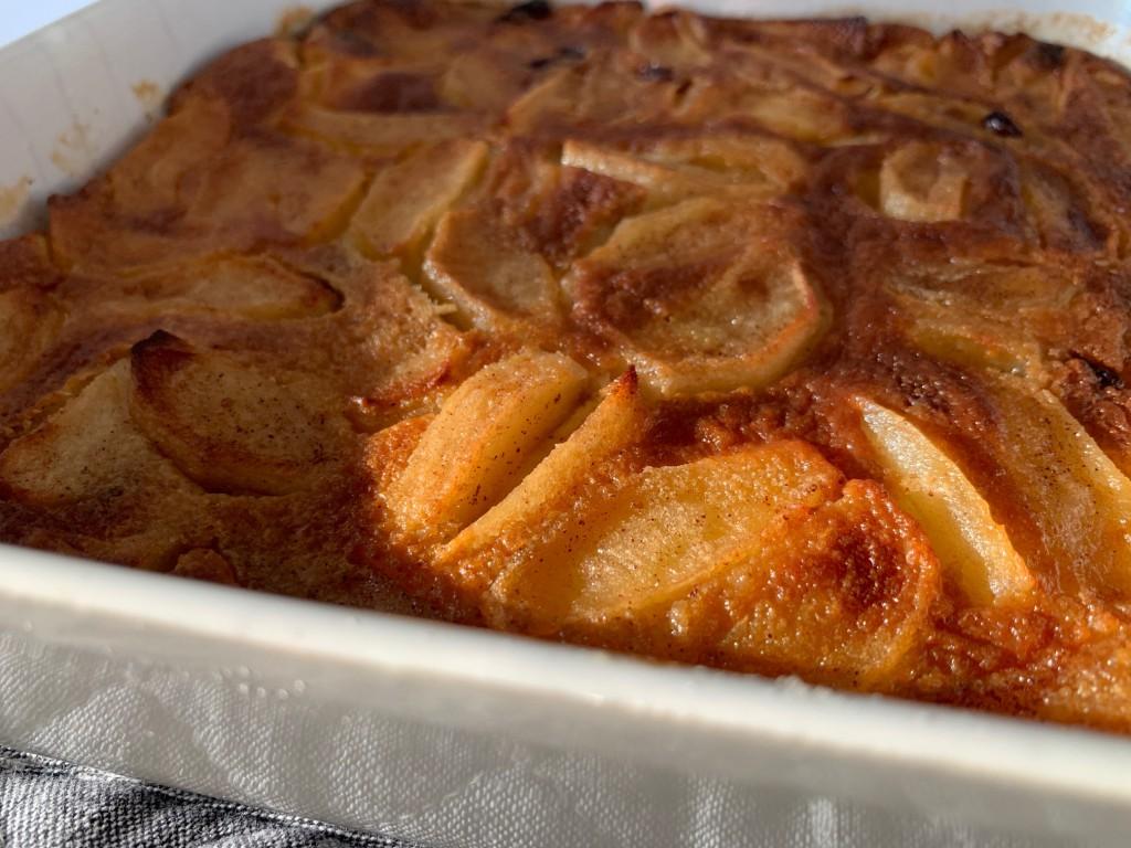 appel-rozijnen claffoutis foto