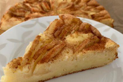kwark-appeltaart recept foto