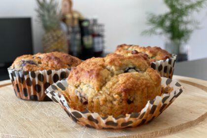 amandel bananen muffins foto