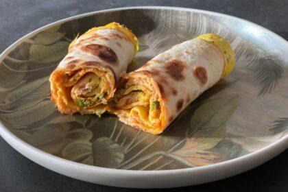 tortilla egg rolls foto