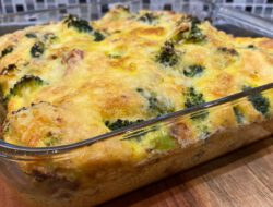 Frittata met broccoli, spek en ui #lowcarb foto